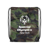 Camo Drawstring Backpack-Primary Mark Vertical
