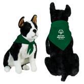 Dark Green Pet Bandana-Primary Mark Vertical