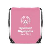Light Pink Drawstring Backpack-Primary Mark Vertical