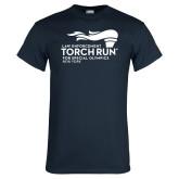 Navy T Shirt-Law Enforcement Torch Run