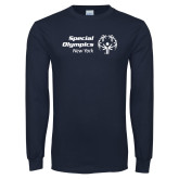 Navy Long Sleeve T Shirt-Primary Mark Horizontal