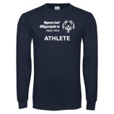 Navy Long Sleeve T Shirt-Athlete