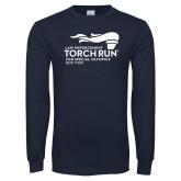 Navy Long Sleeve T Shirt-Law Enforcement Torch Run