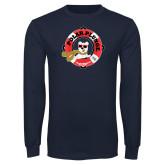 Navy Long Sleeve T Shirt-Polar Plunge