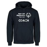 Navy Fleece Hoodie-Coach