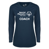 Ladies Syntrel Performance Navy Longsleeve Shirt-Coach
