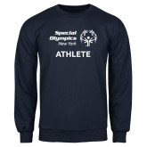 Navy Fleece Crew-Athlete