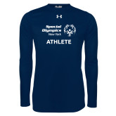 Under Armour Navy Long Sleeve Tech Tee-Athlete