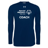 Under Armour Navy Long Sleeve Tech Tee-Coach