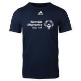 Adidas Navy Logo T Shirt-Primary Mark Horizontal