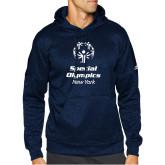Adidas Navy Team Issue Hoodie-Primary Mark Vertical