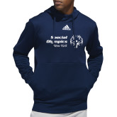 Adidas Navy Team Issue Hoodie-Primary Mark Horizontal