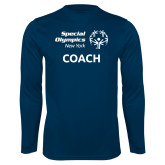 Performance Navy Longsleeve Shirt-Coach