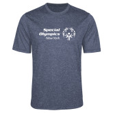 Performance Navy Heather Contender Tee-Primary Mark Horizontal