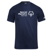 Russell Core Performance Navy Tee-Primary Mark Horizontal