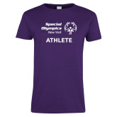 Ladies Purple T Shirt-Athlete