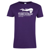 Ladies Purple T Shirt-Law Enforcement Torch Run