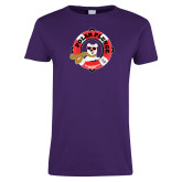 Ladies Purple T Shirt-Polar Plunge