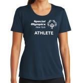 Ladies Syntrel Performance Navy Tee-Athlete
