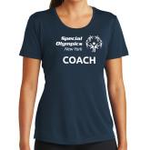 Ladies Syntrel Performance Navy Tee-Coach