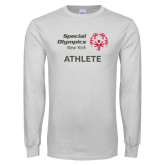 White Long Sleeve T Shirt-Athlete
