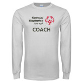White Long Sleeve T Shirt-Coach