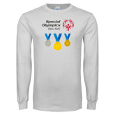 White Long Sleeve T Shirt-Olympic Medals