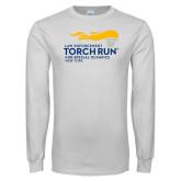 White Long Sleeve T Shirt-Law Enforcement Torch Run