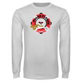 White Long Sleeve T Shirt-Polar Plunge