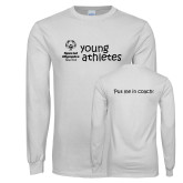 White Long Sleeve T Shirt-Young Athletes Shirt Front