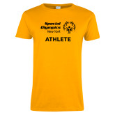 Ladies Gold T Shirt-Athlete