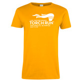 Ladies Gold T Shirt-Law Enforcement Torch Run