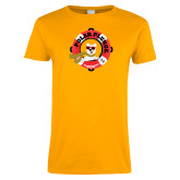 Ladies Gold T Shirt-Polar Plunge