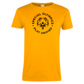 Ladies Gold T Shirt-Play Unified