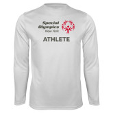 Performance White Longsleeve Shirt-Athlete