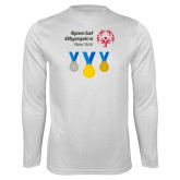Performance White Longsleeve Shirt-Olympic Medals