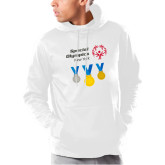 Under Armour White Armour Fleece Hoodie-Olympic Medals