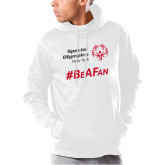 Under Armour White Armour Fleece Hoodie-Hashtag Be A Fan