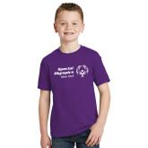 Youth Purple T Shirt-Primary Mark Horizontal