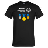 Black T Shirt-Olympic Medals