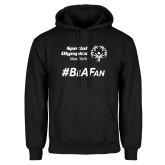 Black Fleece Hoodie-Hashtag Be A Fan