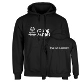 Black Fleece Hoodie-Young Athletes Shirt Front