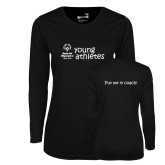Ladies Syntrel Performance Black Longsleeve Shirt-Young Athletes Shirt Front