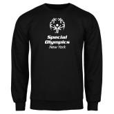 Black Fleece Crew-Primary Mark Vertical