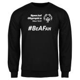 Black Fleece Crew-Hashtag Be A Fan