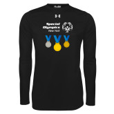 Under Armour Black Long Sleeve Tech Tee-Olympic Medals
