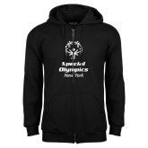 Black Fleece Full Zip Hoodie-Primary Mark Vertical