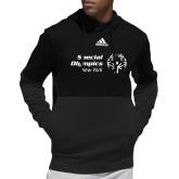 Adidas Black Team Issue Hoodie-Primary Mark Horizontal