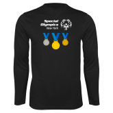 Performance Black Longsleeve Shirt-Olympic Medals