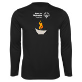 Performance Black Longsleeve Shirt-Olympic Torch